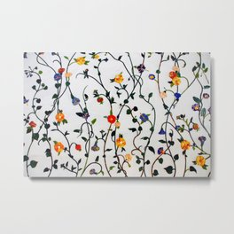 FLORAL AND VINE ABSTRACT PATTERN Metal Print