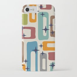 Retro Mid Century Modern Abstract Pattern 224 iPhone Case