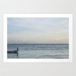 Calm Beach -2 Art Print