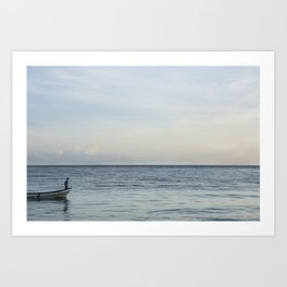Calm Beach -2 Art Print