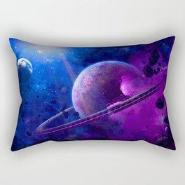Into Blue Space Rectangular Pillow