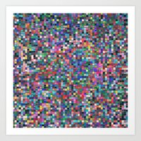 stained glass Art Prints featuring stained glass by spinL