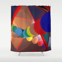 in a mirror -1- Shower Curtain