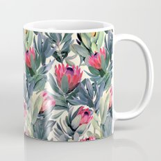 Painted Protea Pattern Coffee Mug