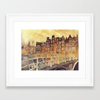 amsterdam Framed Art Prints featuring Amsterdam by takmaj