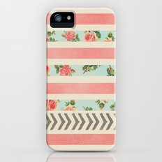 FLORAL STRIPES AND ARROWS iPhone (5, 5s) Slim Case