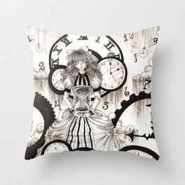 As Time Transcends Throw Pillow