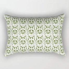 Green foxes faces Rectangular Pillow
