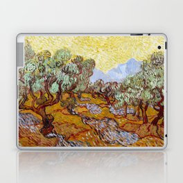 Van Gogh - Olive Trees with yellow sky and sun Laptop & iPad Skin