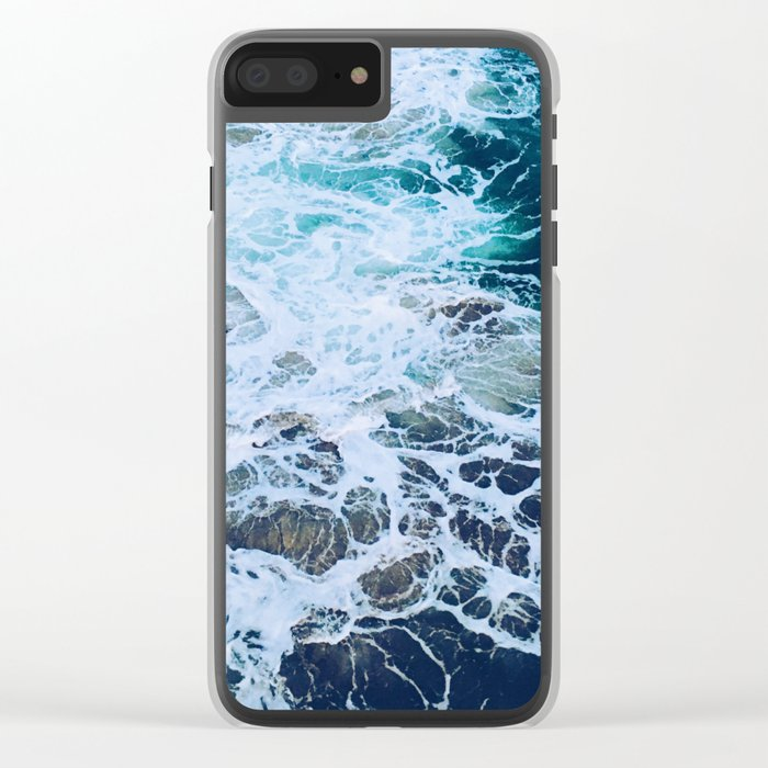 Wonderful Waves Clear iPhone Case