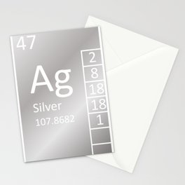 Heavy Metals - Silver Stationery Cards