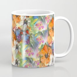 Poppies and Wildflower Impressions Coffee Mug