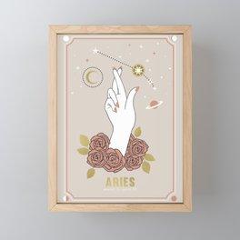 Aries Zodiac Series Framed Mini Art Print