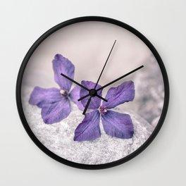 Zen Soft Pastel Purple Clematis Blossom Wall Clock
