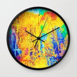 Imaginäre Landschaft - Ölgemälde auf Leinwand Wall Clock
