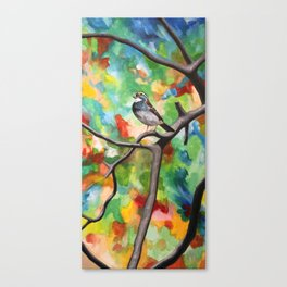 White-Throated Sparrow / Fall Canvas Print