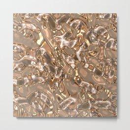 MetalArt liquid texture Metal Print
