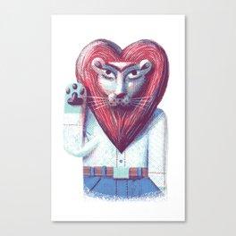 Lion's heart Canvas Print