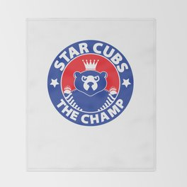 Star Cubs The Champ Throw Blanket