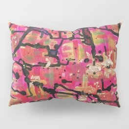 abstract gold and pink Pillow Sham