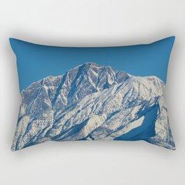 Fresh snow on the mountains of Jasper National Park Rectangular Pillow
