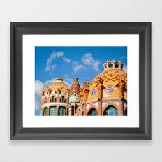 Modernism architecture in Barcelona Framed Art Print