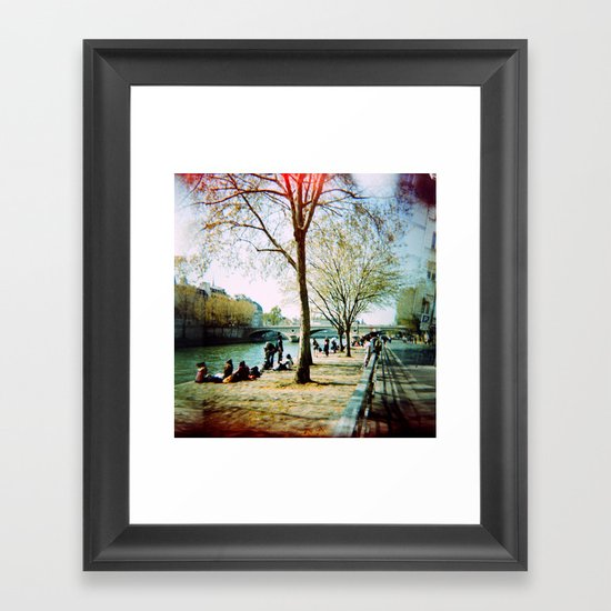 Paris in the Spring Time Framed Art Print