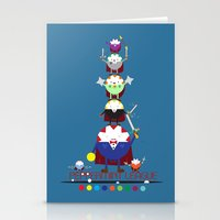 league Stationery Cards featuring Peppermint League by Carieo's Creation