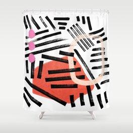 Brush Stroke Study — Hella Abstract Shower Curtain