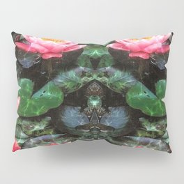 Mirrored Water Lilies Pillow Sham