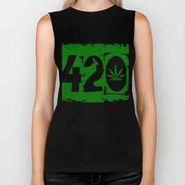420 Cannabis Weed Marijuana Hemp Pothead Gift Biker Tank