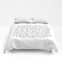 Typewriter Style Quote ((Morgan Harper Nichols)) Comforters