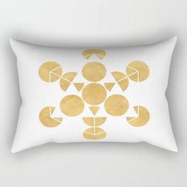 ICOSAHEDRON FRUIT OF LIFE minimal sacred geometry Rectangular Pillow