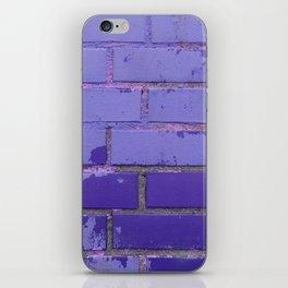 Violet Bricks Wall Texture iPhone Skin