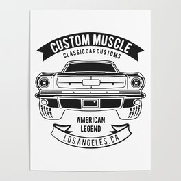 custom muscle Poster