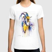 goat T-shirts featuring Goat  by Slaveika Aladjova