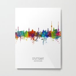 Stuttgart Germany Skyline Metal Print