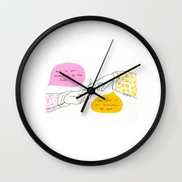 Art is an Invention  of the Soul Wall Clock