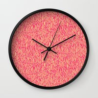 in the flesh Wall Clocks featuring Flesh by lugworms
