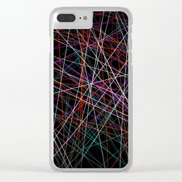 Endless void of strings Clear iPhone Case