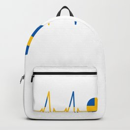 Schweden Herzschlag Reise Geschenk Schweden T-Shirt Backpack