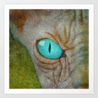 sphynx Art Prints featuring Sphynx by BruceStanfieldArtist.DarkSide