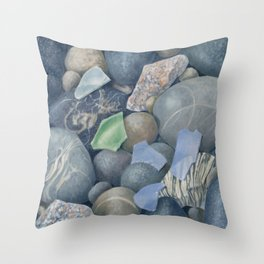 Sea Glass IV Throw Pillow
