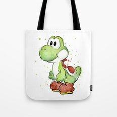 Yoshi Watercolor Mario Tote Bag