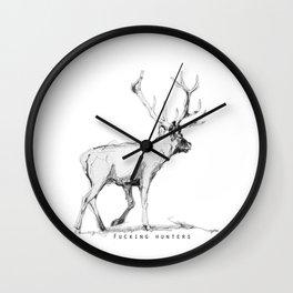 Fucking hunters Wall Clock