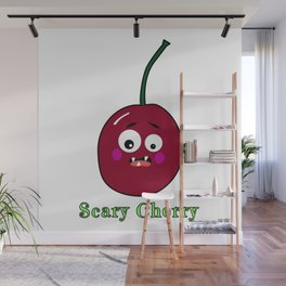 Halloween Scary Cherry Fruit Costume Vegan Vegetarian Wall Mural