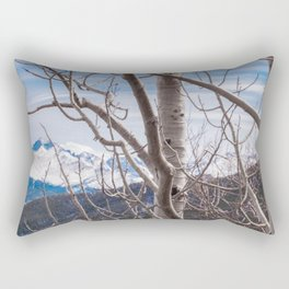 Mountains Through the Trees Rectangular Pillow