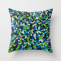sprinkles Throw Pillows featuring Sprinkles by Jessica Torres Photography