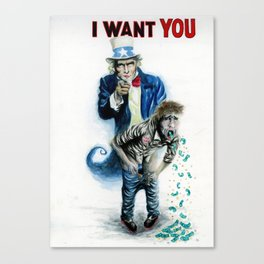 Uncle Sam want You Canvas Print