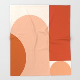 abstract minimal #8 Throw Blanket
